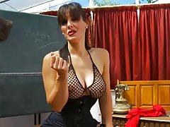 Секси учител подигравателен